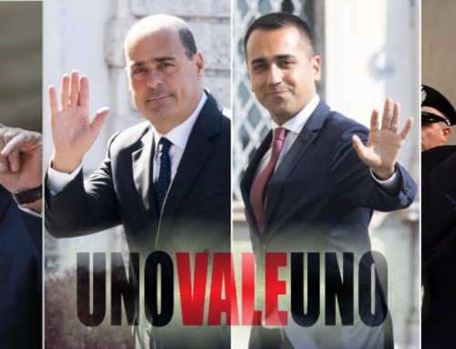 Il conte ex-dimezzato, i selfie di Salvini, Di Maio e l'uno che non vale l'altro: i linguaggi della crisi di governo.